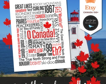 Canada 150 - Canadiana - Made in Canada - Canada Day Decor - Canadian Sayings - Printable Wall Art - Subway Typography - YOU PRINT Sign