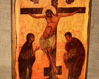 Icon wooden Crucifix of Christ
