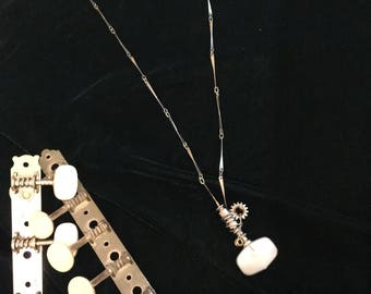 Pearlescent Classical Tuning Peg Pendant Necklace