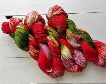 DANGEROUS BOTANIST, Hand dyed yarn, 4ply, Pima Cotton Yarn