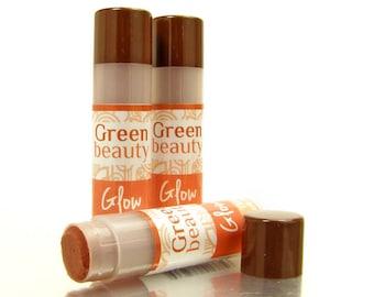 Tinted Lip Balm, Glow, natural lip balm, sheer lip tint for a natural no-makeup makeup look, natural lip tint, blends with natural lip color