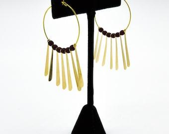 Spiked wire hoop earrings
