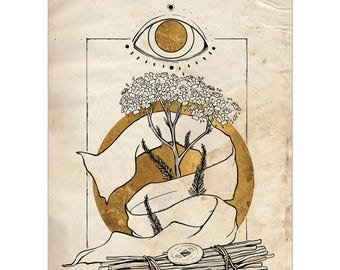 Plant Folklore: Yarrow - A6 Art Print
