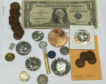 LOT Proof IKE Franklin 1950s+sState+Wheat+Kennedy+WW2+Bullion+8 Silver+More