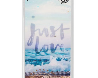 NEW iPhone 7/7+ Case,  JUST LOVE, Best Seller, Hawaii, Beach, Surf, Surf Art, Tropical, Art, Avail. with Black or White case color