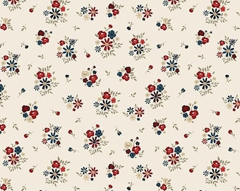 20% OFF Penny Rose Fabrics, American Heritage by Dani Mogstad Floral Cream