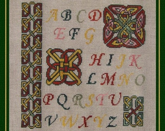 Celtic Sampler Cross Stitch Instant Download PDF Pattern Counted Embroidery Chart Celtic Knot Design Alphabet Monogram Mini Mandala X Stitch