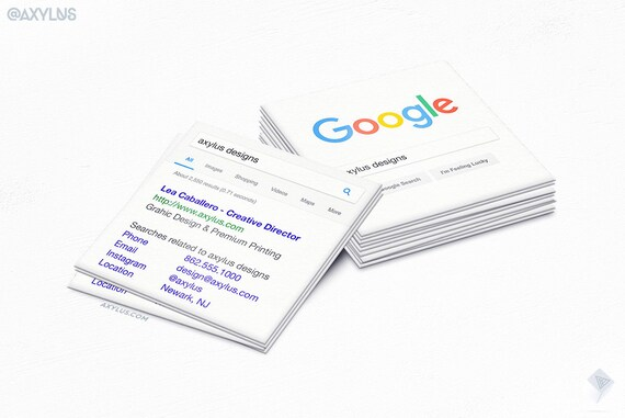 Google business cards square mini cards seo marketing reheart Images