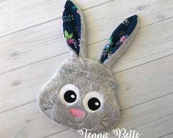 Bunny Rabbit Zipper Pouch, Clutch, Bag- Accessory