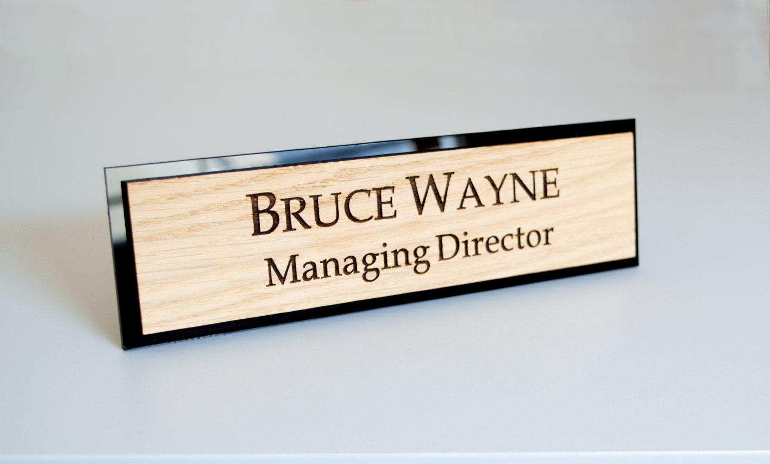 Office Name Plates: Executive Personalised Desk Name Plate Custom Engraved Desk