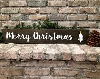 Merry Christmas - Wood Sign - Christmas Home Decor