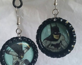 Batman earrings - comic book jewelry - Batman jewelry - DC comics accessories - Batman accessories - geeky statement earrings - dc superhero