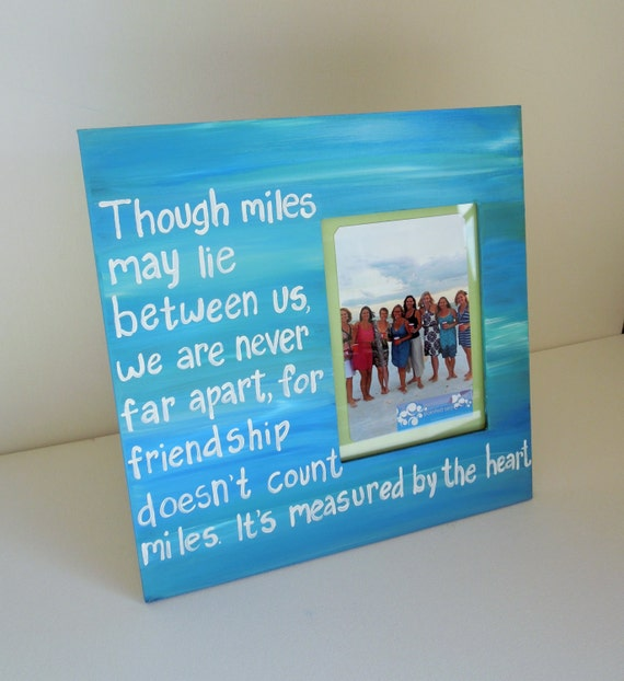 Items similar to Best Friend Frame. Long distance Friend Picture ...