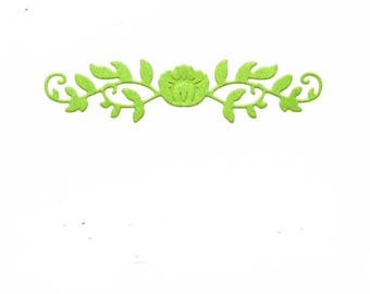 Cut scrapbooking frieze flower set of 10 pieces