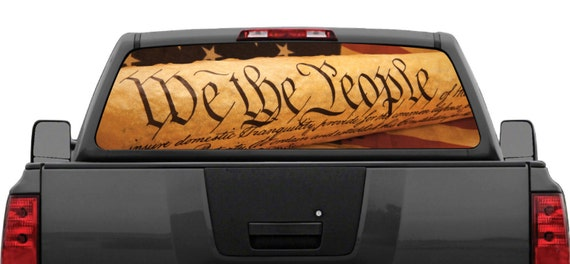 American flag we the people rear window graphic