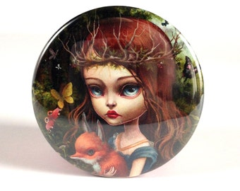 Pretty Pocket Mirror - The Entomologists Daughter pocket mirror - by Mab Graves