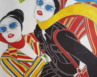 1970s Daniel Hechter French Fashion Poster - Original Vintage Poster