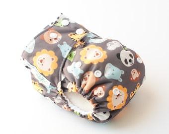 Zoo Animals AI2 Snap Closure Diaper