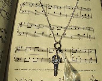 One of a Kind Steampunk Chandelier Key Necklace