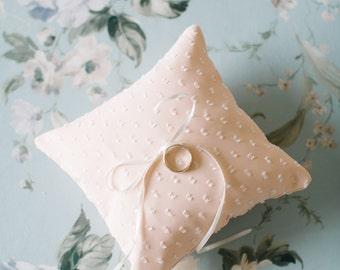 Ring Bearer Pillow, Blush Ring Pillow, Wedding Ring Pillow, Ring Bearer, Lace Ring Pillow, Rustic Wedding, Ring Cushion