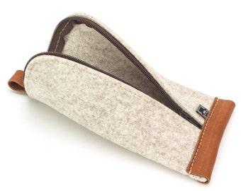 Travel Bag, Felt Bag, Zipper Pouch, Zipper Bag, Make up Pouch, Tolietry Bag, Cosmetic Felt Bag, Pouch, Personal Gift, Multipurpose Bag