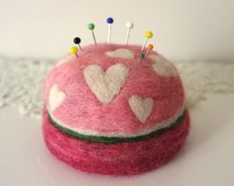 XL Wool Pincushion - Quilter Pincushion - Felt Pin Cushion - Needle Felt Pincushion - Gift for Quilter - Gift for Seamstress - Made to Order