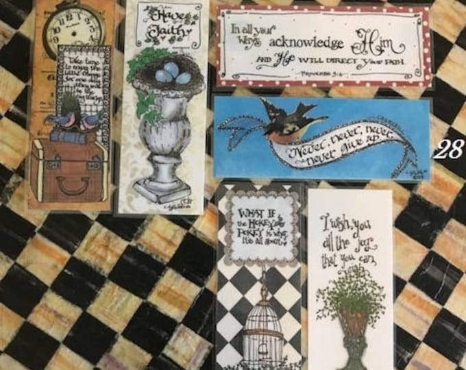Inspirational Bookmarks-Cindy Grubb_For His Glory-#25-30- Take time, Have Faith, Proverbs 3:6, Churchill, Hokey Pokey, Shakespeare,scripture