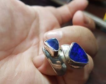 twin doublet fully adjustable 925 silver ring