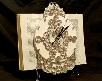 Clock Book Sculpture