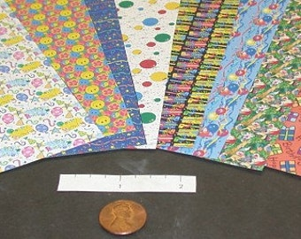 Miniature Birthday Wrapping Paper