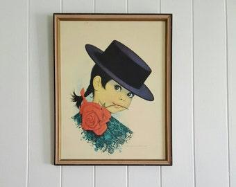 Spanish Girl Print Framed