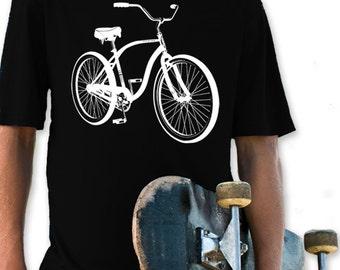 Bicycle Children Youth T-Shirt. Boys & Girls Hand Screen Printed Tee. Great Quality. Very Soft. Bike Ride Sports Biking
