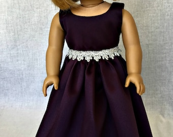 18 inch doll formal dress -  18 inch doll clothes - AG doll clothes - fits the  American Girl and similar 18 inch dolls
