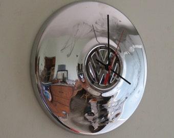 VW Volkswagon Hubcap Clock - Item 2623