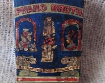 Vintage 1915 Stephano Brothers Rameses II 100 Cigarette Tin, Egyptian Cigarettes Philadelphia,PA, Ships Worldwide