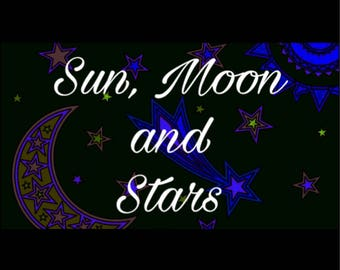 Sun, Moon and Stars Oracle Reading sent by PDF file and by mail.