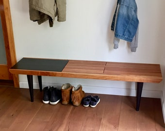 Slatted Bench - Cherry - In Stock!