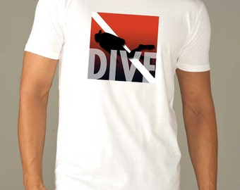 Scuba Diving Mens T-Shirt | DIVE | Men's scuba Shirt | Scuba Diving Shirt | scuba diver| scuba shirt / Scuba diver gift / Life is Balance®