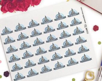 London Countdown Planner Stickers |  Erin Condren ECLP Life Planner | Vacation Stickers | Travel Stickers | Vacation Countdown