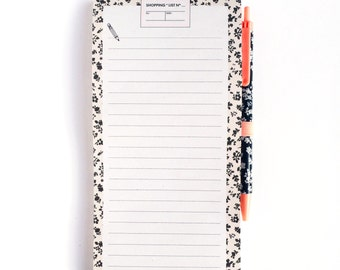 Magnetic Shopping List Notepad with Pen