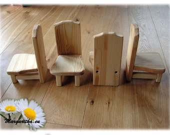 Large wooden doll chair or table, 18 inch doll furniture, 18 inch american doll chair table, waldorf doll furniture