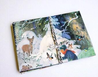 hand-folded x-mas Envelopes, envelopes zwerge, christmas gift case, x-mas gift package,christmas,gifts,