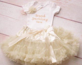 Tutu, Ivory Tutus, Ivory Baby Tutu, Ivory Cake Smash Outfit, First Birthday Outfit Girl, Girl First Birthday, Newborn Outfit