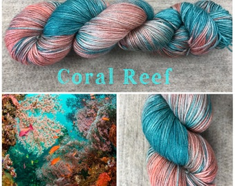 Coral Reef Hand Dyed Yarn