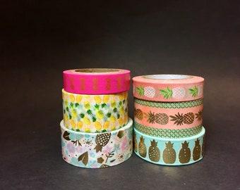 Pineapple Washi Tape Sample, Fruit Washi Tape Sample