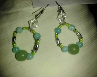 Peridot princess earrings