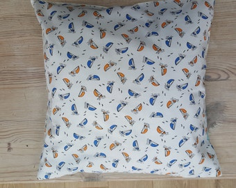 Little Sailing Boats Cushion Cover with Lovely Back Detail