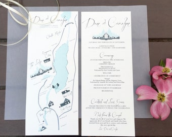 Custom | Wedding Map & Program Suite