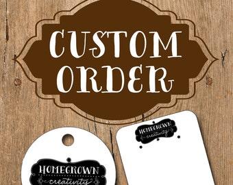 Custom order Earring Cards for  darlinsdesign