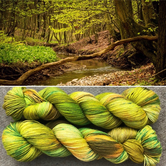 Spring is Here BFL, indie dyed bluefaced leicester nylon sock yarn